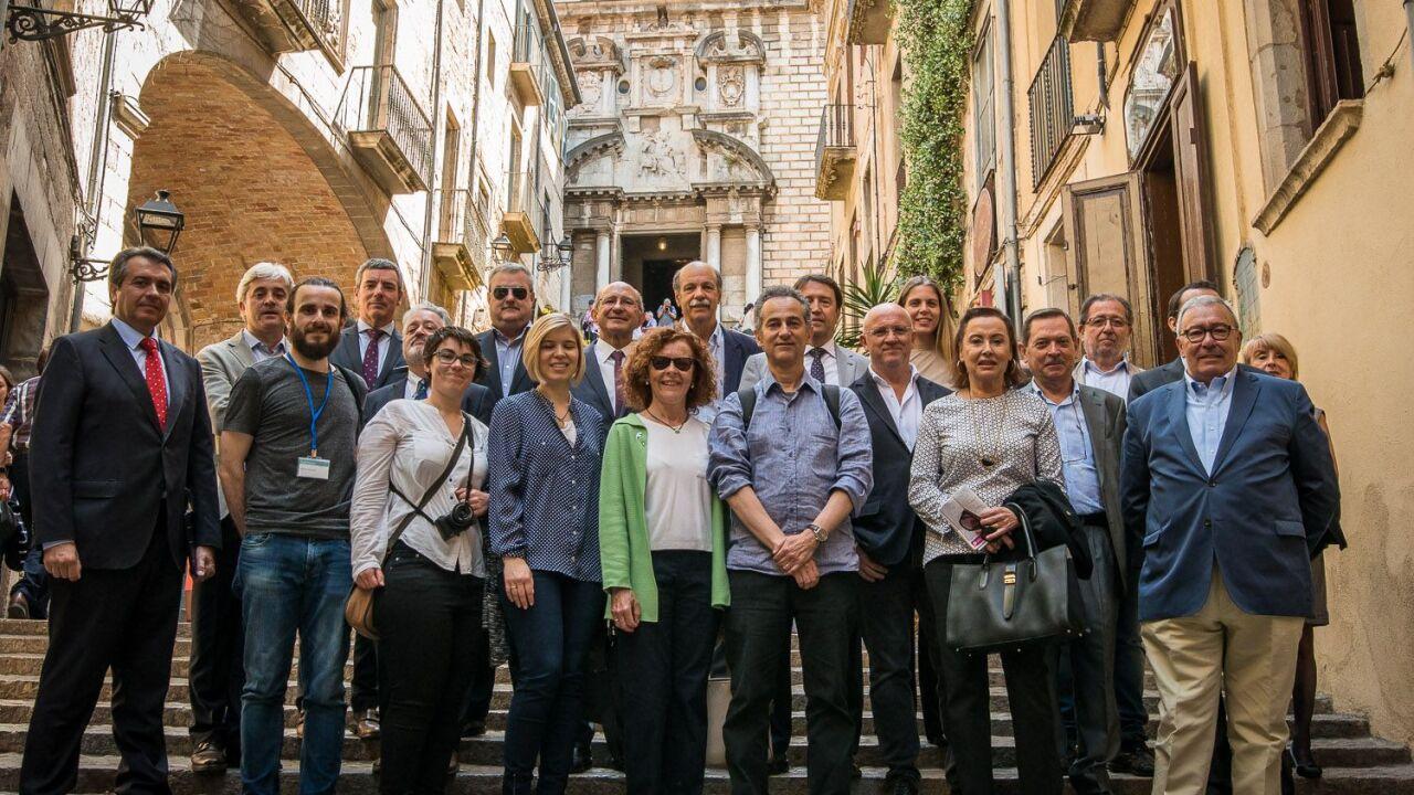 Membres de l'ACES durant Temps de Flors Girona '17_Clínica Bofill