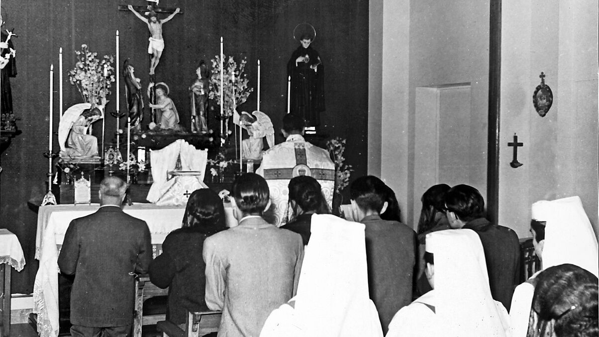 Inauguració capella Clinica Sant Narcís 03 d'ocubre de 1957