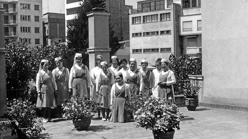 Enfermeras Clínica Sant Narcís -Clínica Bofill 1957